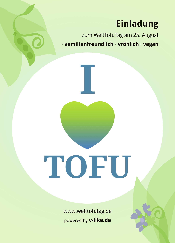 I love Tofu Postkarte